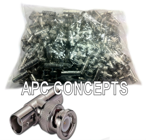 100 Pack BNC T Male - Female Female Adaptors