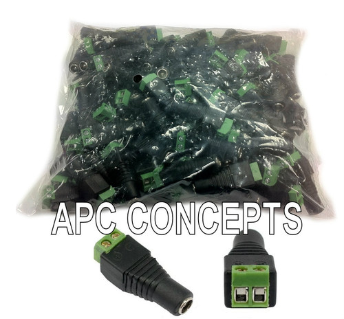 100 Pack Quick Female Power Connectors - Terminal Connection