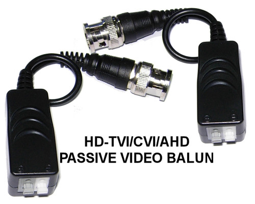 Single Channel HD TVI/CVI/AHD Balun Video Transmitter & Receiver 12V 24V DC-AC