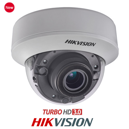 HIKVision Turbo HD 3.0 3MP Motorised Vari-Focal 2.8mm-12mm Lens EXIR Dome CCTV Camera DS-2CE56F7T-AVPIT3Z IP66 IK10 Weatherproof