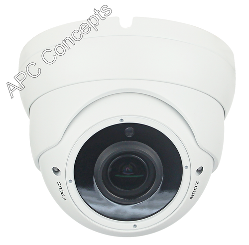 980 VFDW Hybrid Series HD-TVI/CVI/AHD/CVBS 2.8mm-12mm Lens Anti Vandal Dome Camera White HD Multiple Resolution Camera 5MP 2MP & CVBS