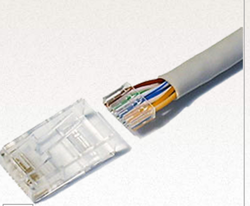 RJ45 Cat6 Connector Plug 2 Part Pack of 100