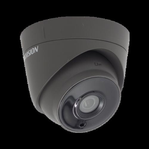 HIKVision DS-2CE56H0T-IT3E Grey Turbo HD TVI 5MP 2.8mm Lens EXIR Dome CCTV Camera IP67 Weatherproof 12 Volt & POC