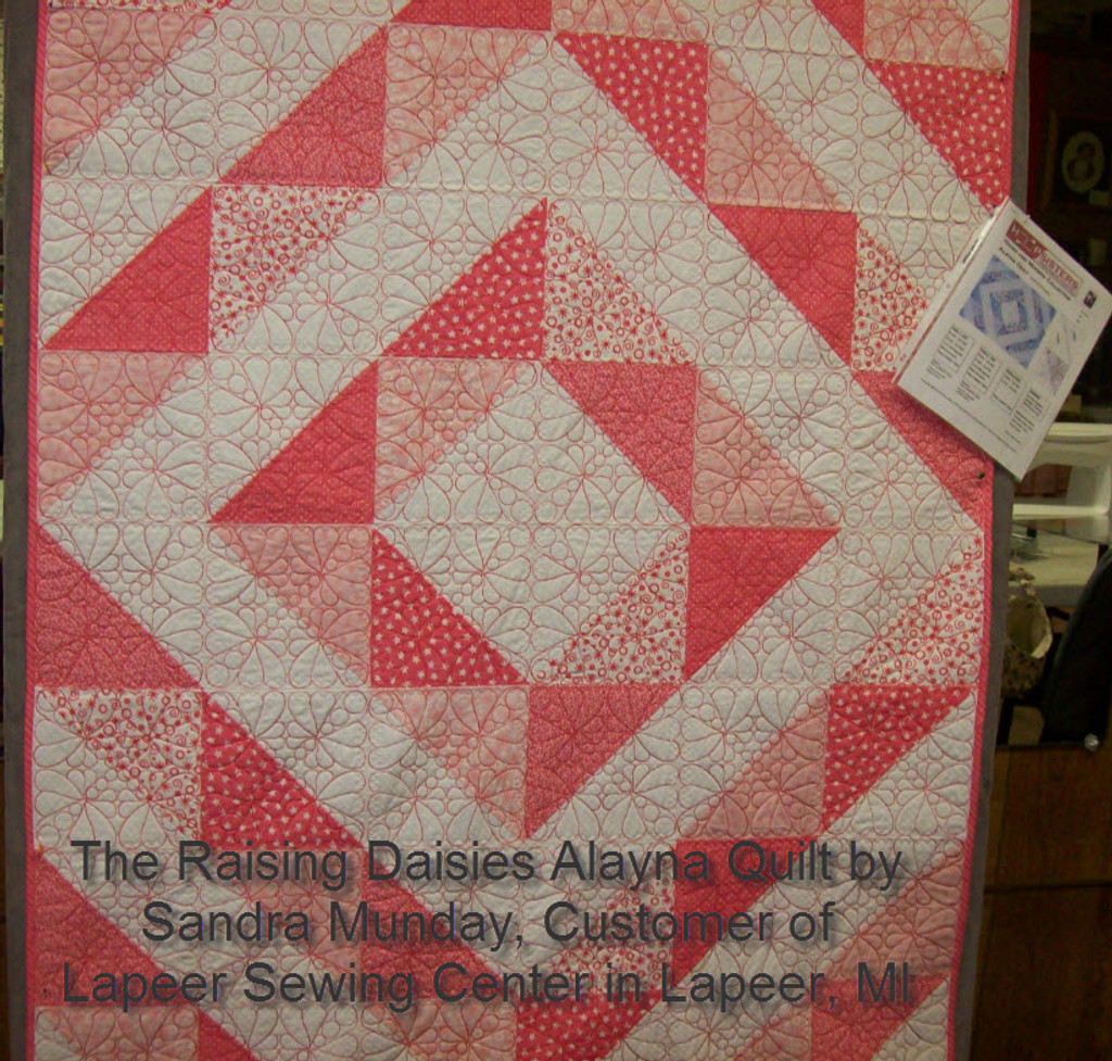 Quilt picture provided by Sandra Munday, customer of Lapeer Sewing Center in Lapeer, Michigan.