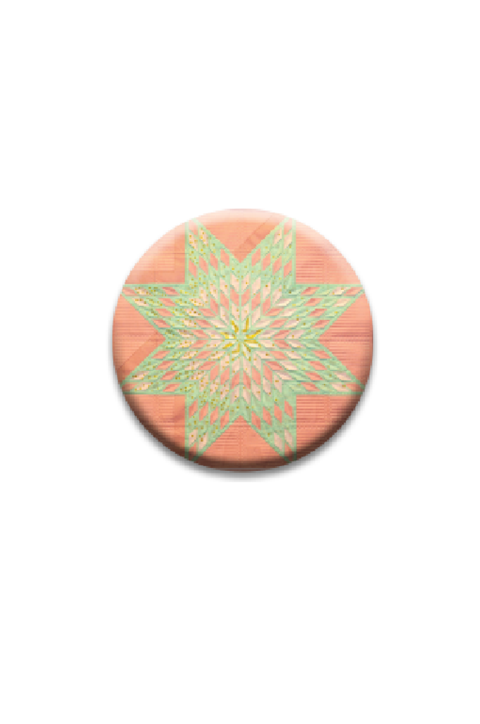 Coral Lone Star Single Quilt Dot