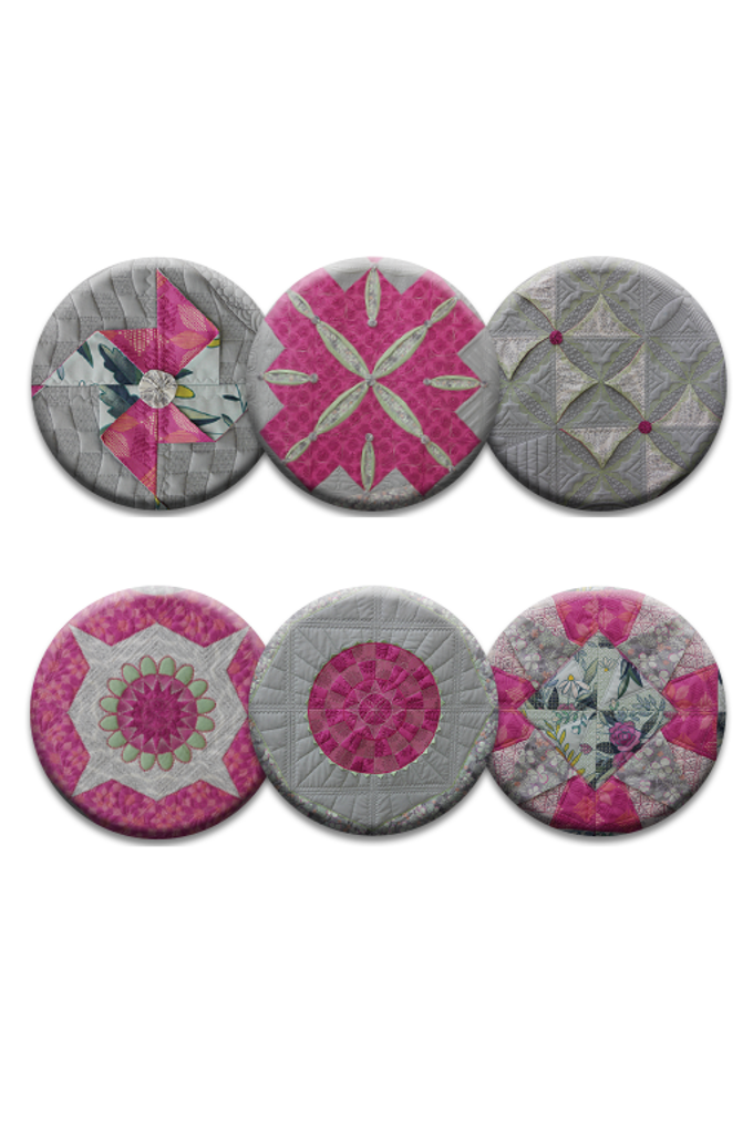 Elegant Elements Collection of 6 Pins or Magnets (DropShip)