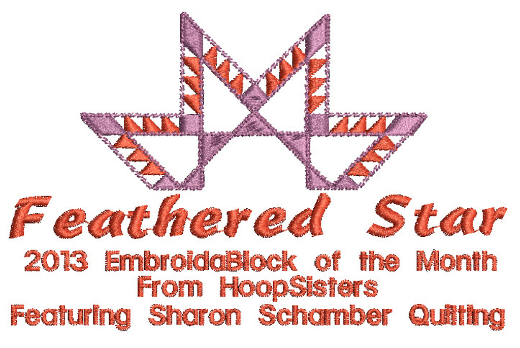Feathered Star Quilt Label
