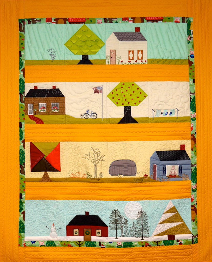 Where The Heart Is Row Quilt