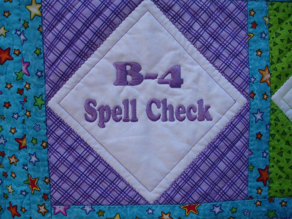 B-4 Spell Check - CD Media