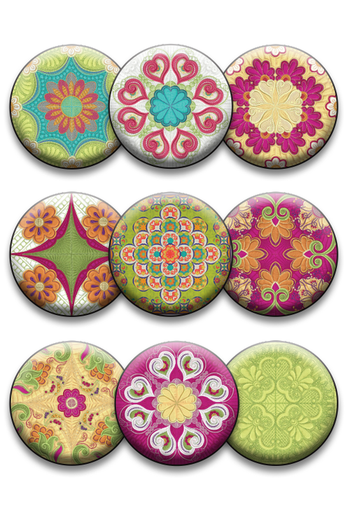 Sewn Seeds Collection of 9 Pins or Magnets (DropShip)