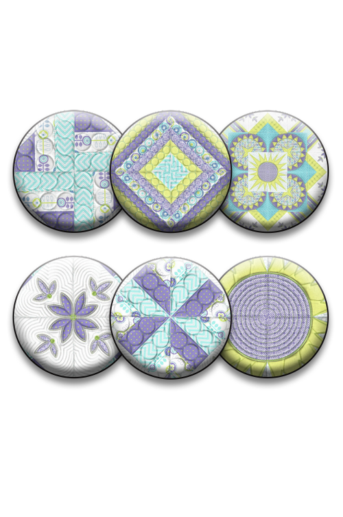 Summer Dreams Collection of 6 Pins or Magnets (DropShip)