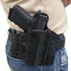 Deep Carry 1 configured as a belt holster. Black on Black