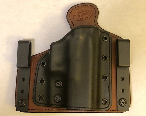 Deep Carry DC-1 in IWB Configuration. Adjustable for ride height and cant angle. Tuckable.