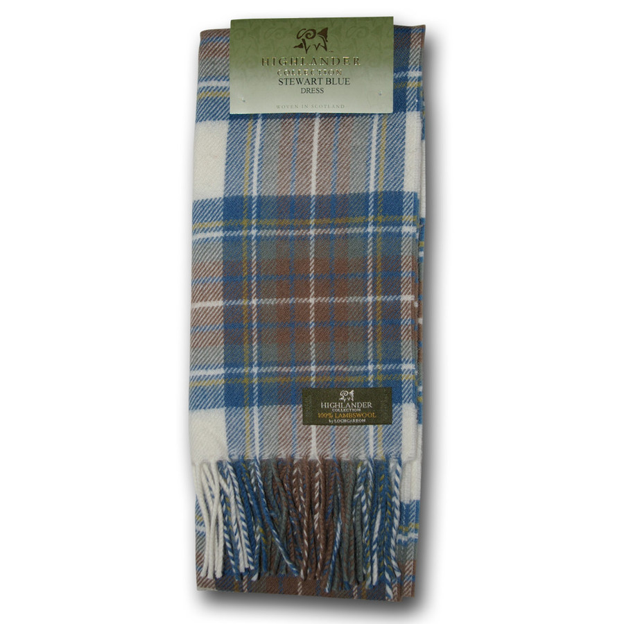 Stewart Dress Blue Tartan Scarf