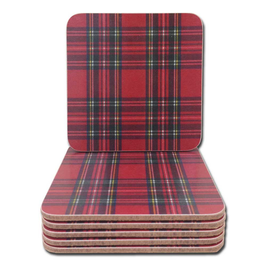 Royal Stewart Tartan Plaid Coasters