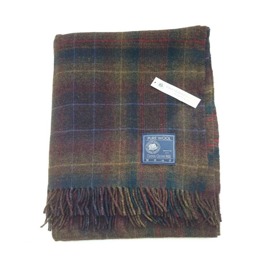 Superfine Lambswool Redwood Tartan Blanket