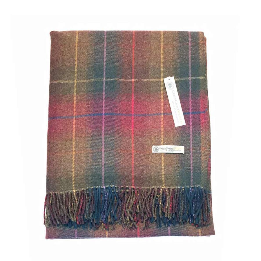 Superfine Lambswool Findhorn Tartan Blanket