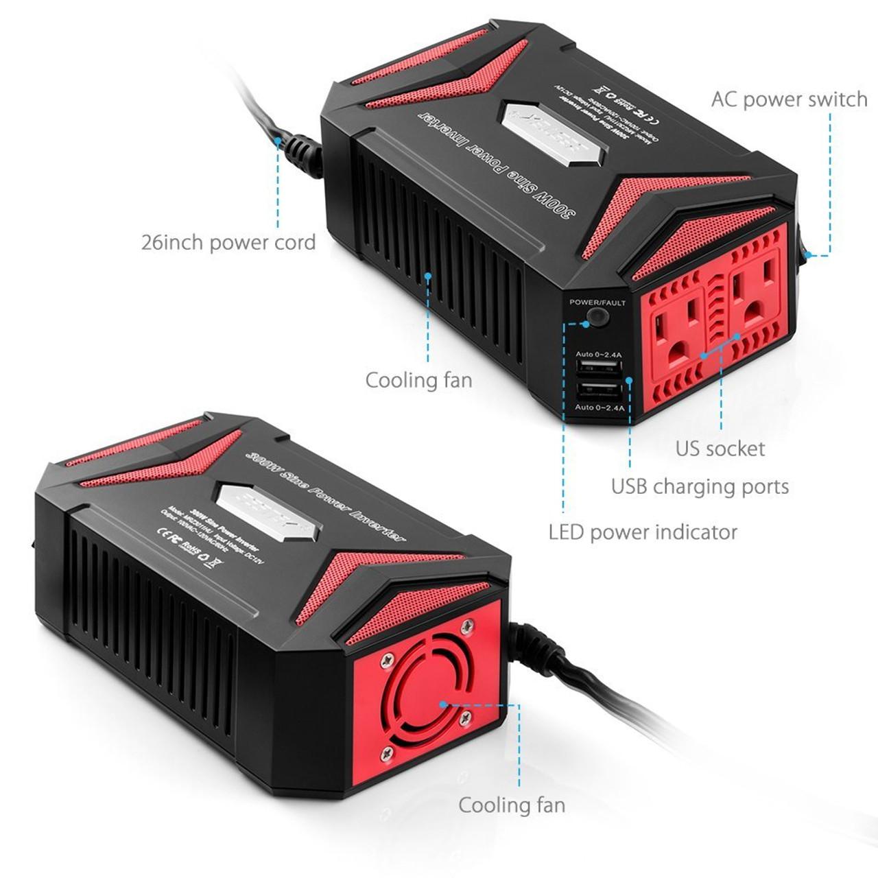 BESTEK 300 Watt Pure Sine Wave Power Inverter