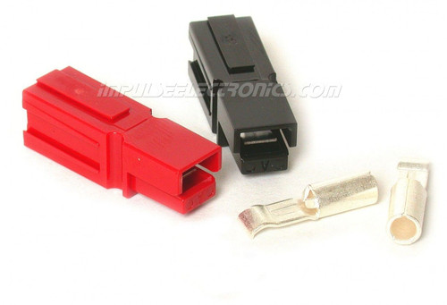 Powerpole Connector, 30 Amp Contacts, Red & Black Housings, Loose