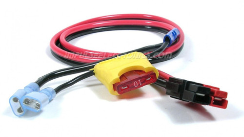 """Power Cable, Powerpole to 1/4"""" Quick Connector w/Fuse Holder"""