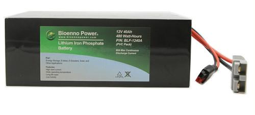 Bioenno Power 12 Volt, 40 Amp Hour Lithium Iron Phosphate Battery