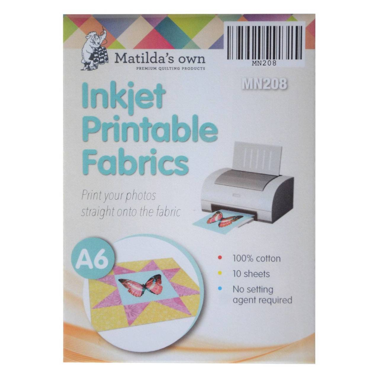 Inkjet Printable Fabric A6 Matildas Own 10 Sheets 105x150mm - Old ...