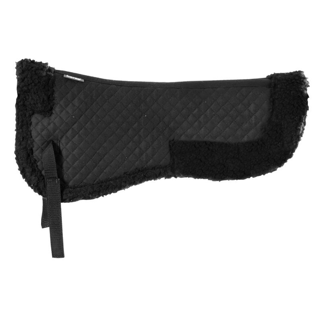 Horze Imitation Fur Riser Pad (Black)