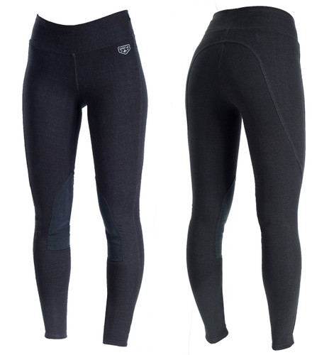 Horze Active Knee Patch Ladies Breeches (Black/Size 36)