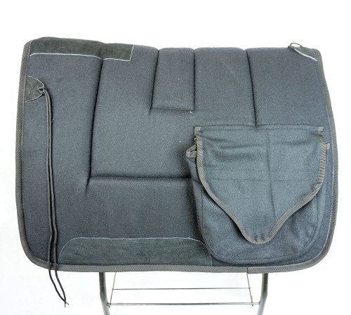 Pioneer Wool Cloth Saddle Pad W/Pockets