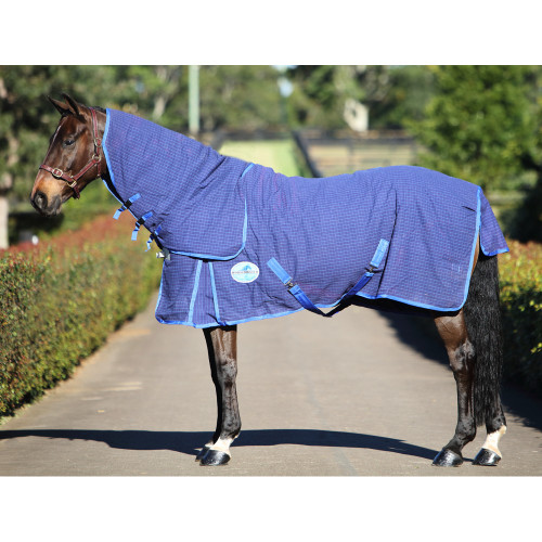 Horsemaster Canvas Ripstop Combo Rug - Blue