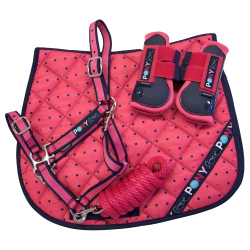 Bambino Pink Pony Pack (Saddle Pad, Halter & Lead, Boots)