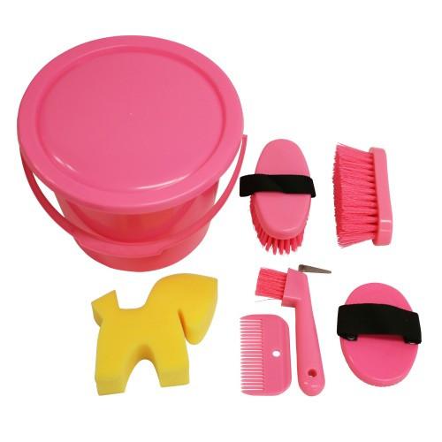Showmaster Kids Grooming Kit Bucket (Pink)