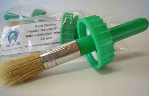 Worlds Best Hoof Oil Green Brush Cap with Handle