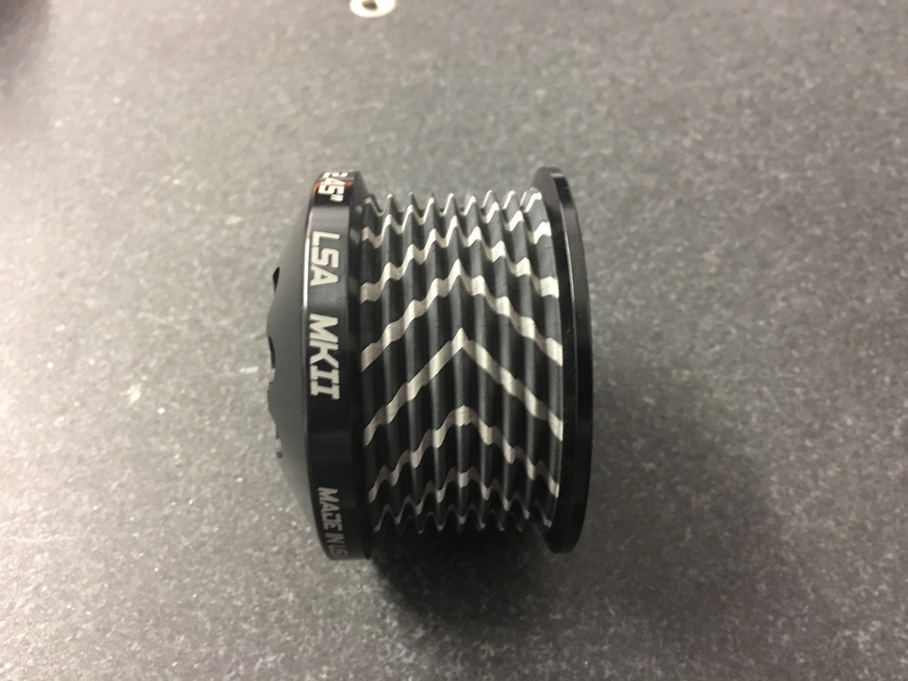"""MKII LS9 Pulley Ø 2.45"""" Black W/GripTec®  V2 (11 Rib Pulley Only)"""