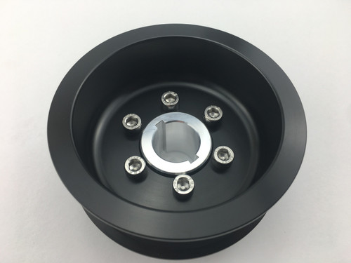 "3.50"" 2pc 8 Rib ""Offset""  Black L3 Kit Hub Included"
