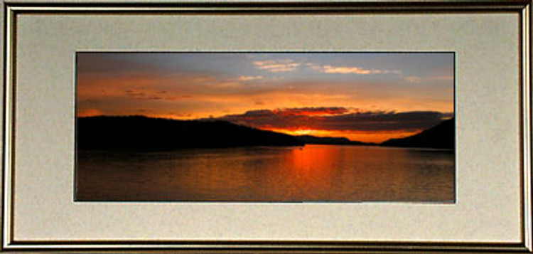 7x15 Panoramic Frame Package  - Complete with Frame, Glass and Cardboard Backing