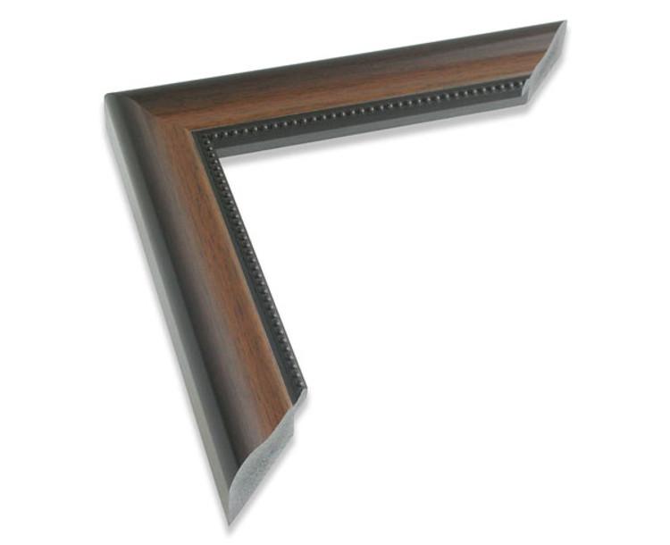 "1 1/2"" Beaded Walnut Synthetic Wood Frame (#963)"
