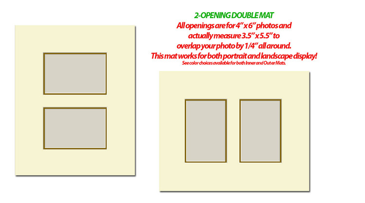 11 x 14 Double Photo Mat with 2 openings (4x6)