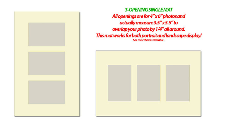 10 x 16 Photo Mat with 3 openings (4x6)