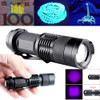 UV LED Flashlight 395nm 3-Mode
