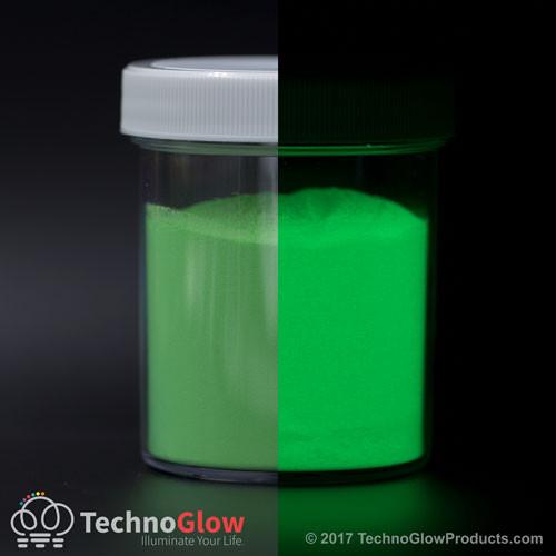 Fluorescent Green Glow in the Dark & UV Powder