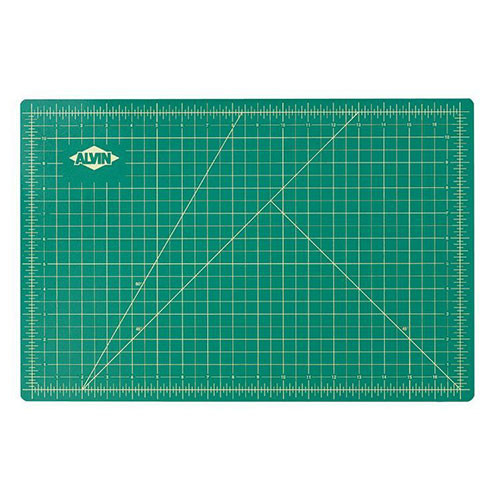 "8 1/2"" x 11"" Green/Black Professional Self-Healing Cutting Mat"