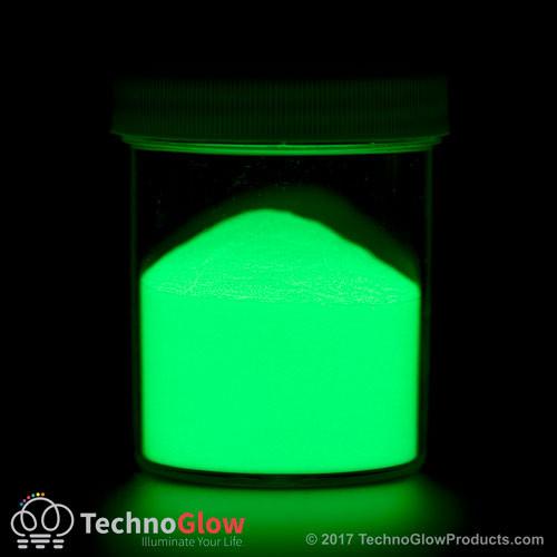 green glow powder print