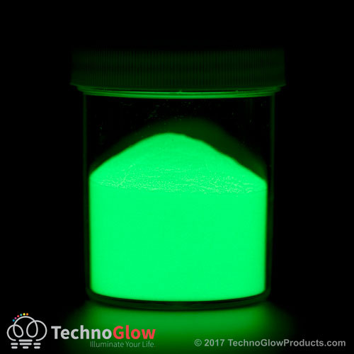 Glow in the dark glass pigment.
