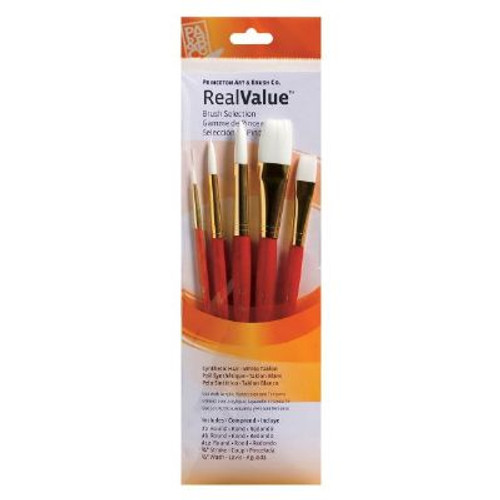 Watercolor, Acrylic and Tempura White Taklon Brush Set 9152