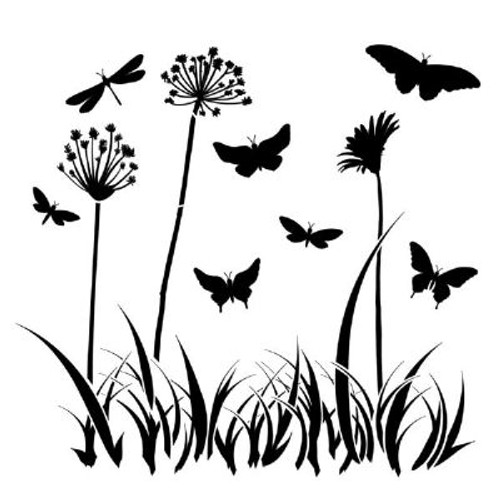 Large Butterfly Meadow Template