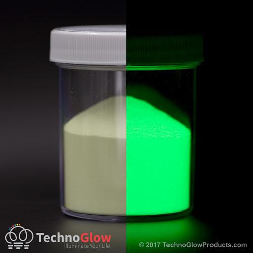 Green Glow in the Dark & UV Powder <50 Microns Waterproof
