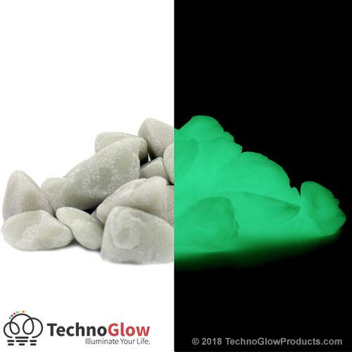 Green Glow in the Dark Rocks - Large