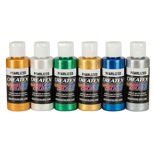 createx pearlized airbrush set 6 pack