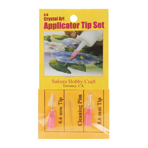 3D Crystal Lacquer Applicator Tips - 0.6 mm
